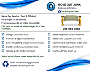 Move Out Junk - Home,  Storage,  Estate,  Rental,  Office - Today