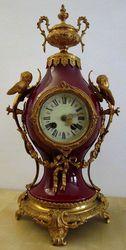 German Lenzkirch porcelain pendulum  (1880/90)