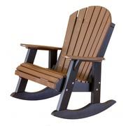 High Fan Back Patio Rocker Chair on Sale
