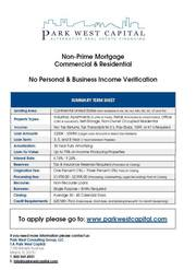 Commercial Mortgage Lenders - Park West Capital