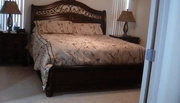 King bed,  mattress almost new
