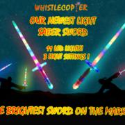 One Star War Light Saber Swords $5.98 Has 11 Bright LED Lights plus 3