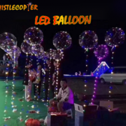 FIVE 18 INCH RE-USABLE LED BALLOONS WITH NINE FOOT LED LINE!